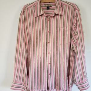 TOMMY BAHAMA MENS LONG SLEEVE BUTTON DOWN SHIRT L